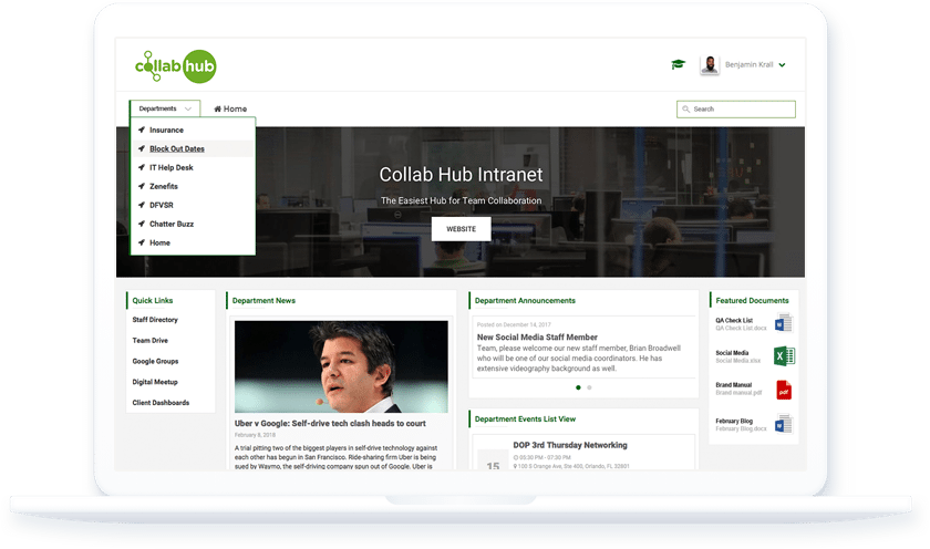 Collab Hub - a Wordpress Intranet Solution for Small Business
