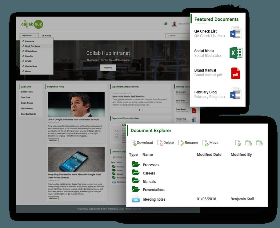 Collab Hub - Document Explorer