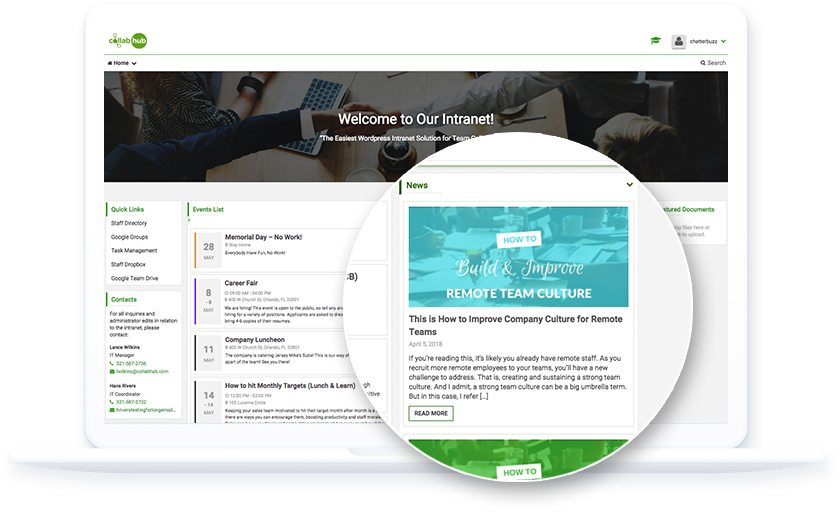 Collab Hub - Intranet Features