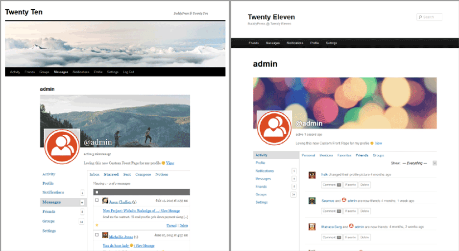 Creating an Intranet using BuddyPress